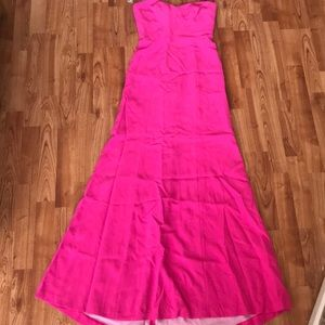 Strapless Pink Gown